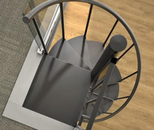 steel spiral staircase kit options