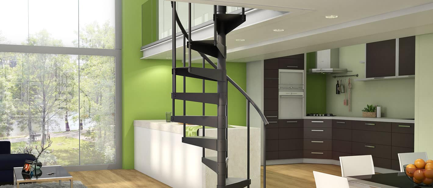 affordable steel spiral stair