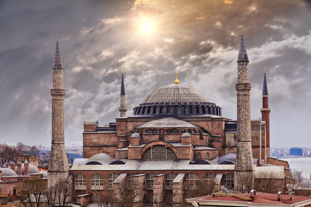 The majestic Hagia Sophia in Istanbul, Turkey