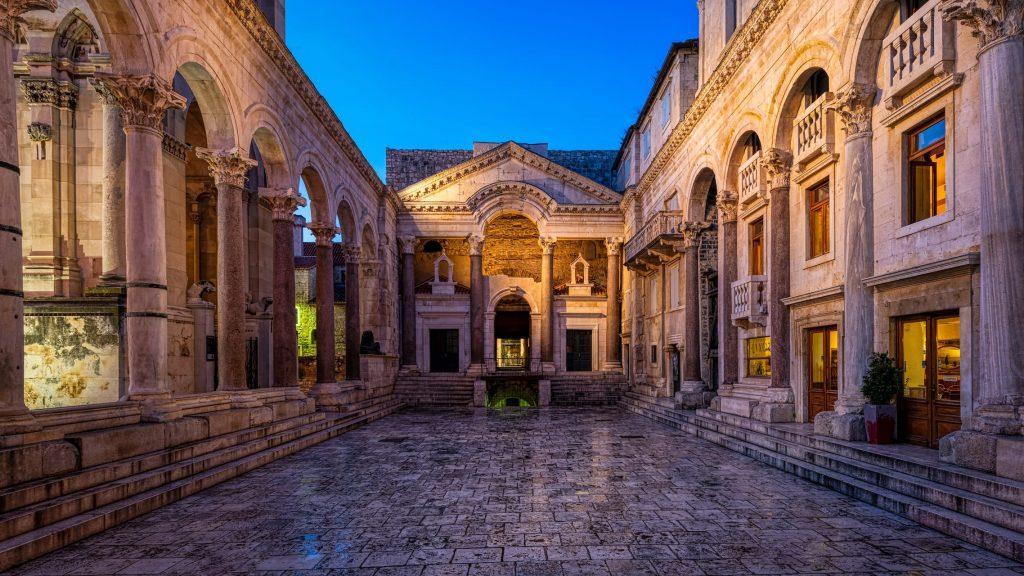 Split, croatia beautiful scenery - Palace of Diocletian