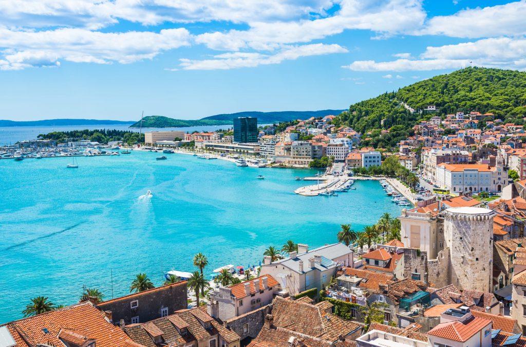 Split panoramic view of town, Dalmatia, Croatia