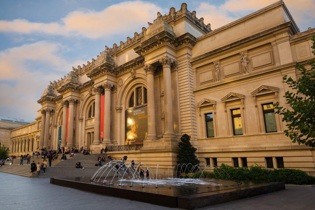 Exterior of the Metropolitan Museum of Art in New York, USA.