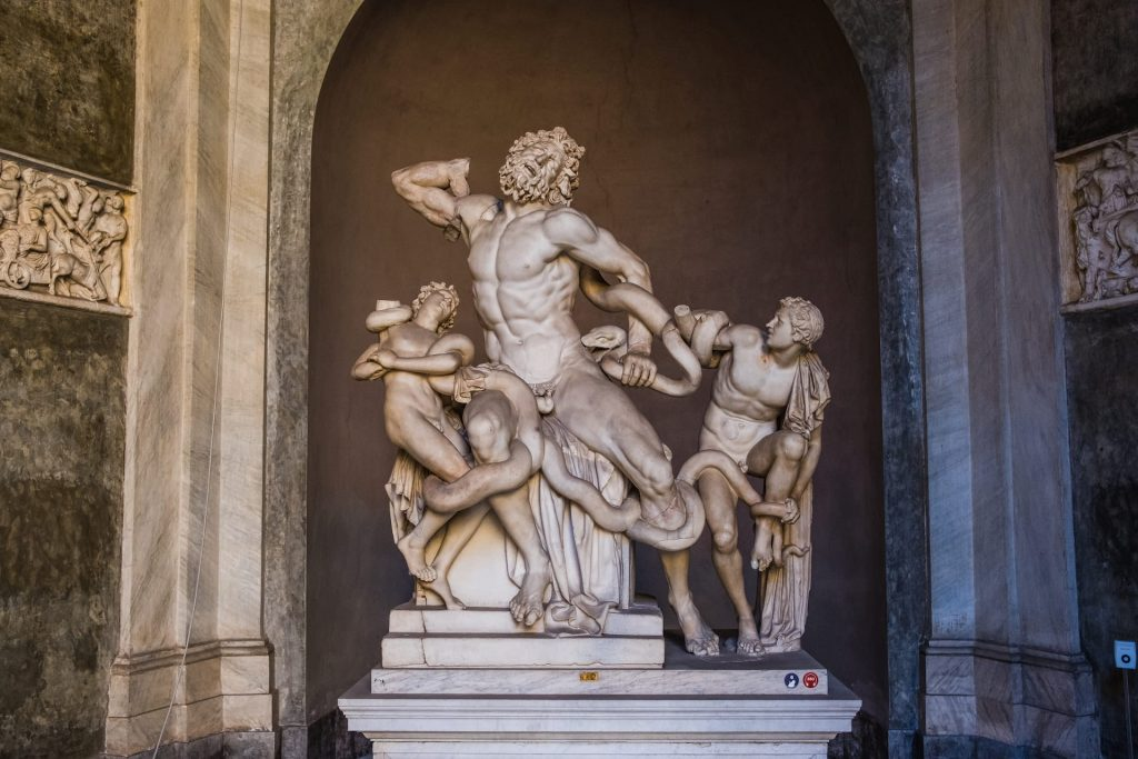 Statue of Ancient statue of Laocoon and his Sons in Vatican Museum
