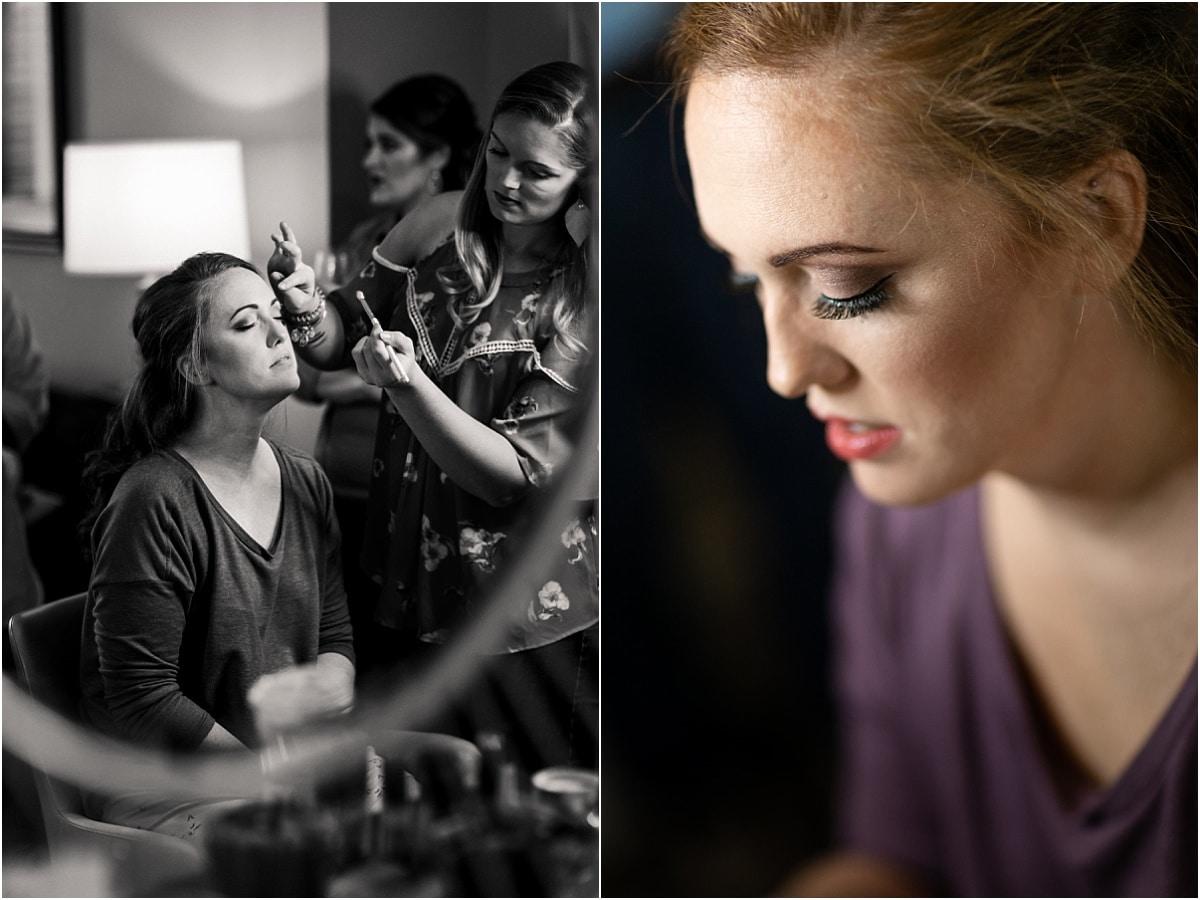 Bride make-up wedding day