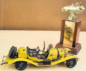 Steve Miller's car with trophy - 1969