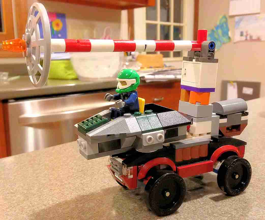 Noah's LEGO Derby Racing Blaster Transport Car