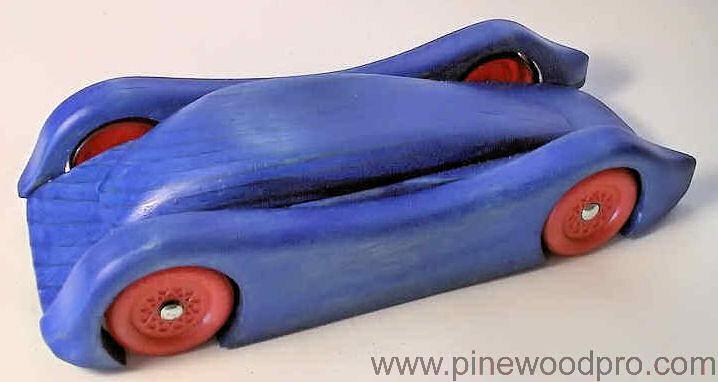 Cool Blue Wood Car Design