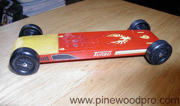 Pinewood Derby Flat Firebird