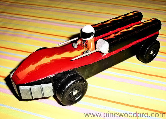 Pinewood Derby Flame Car Design