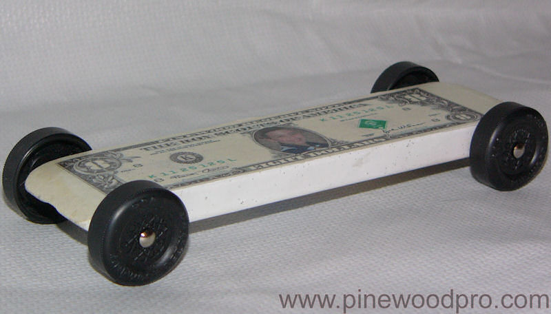 Pinewood Derby Eight Dollar Bill Car
