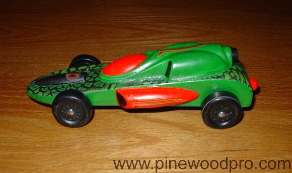 Pinewood Derby Green Car
