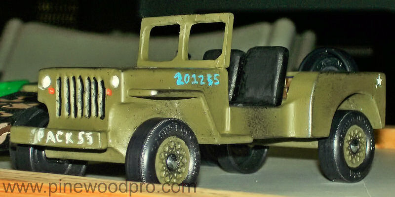 Pinewood Derby Military Jeep Design