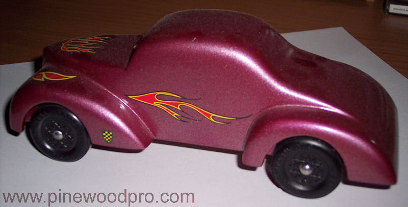 Pinewood Derby Purple Car