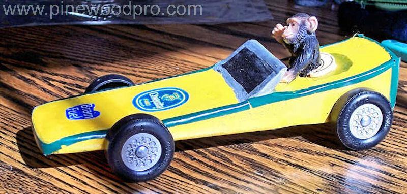 Pinewood Derby Monkey Car