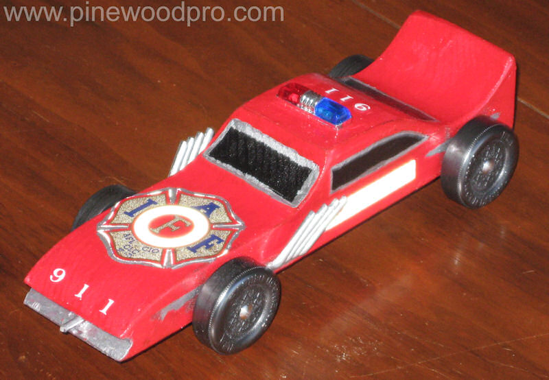 Pinewood Derby Fire Chief Car
