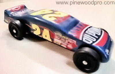 Pinewood Derby Car Design Purple with Flames