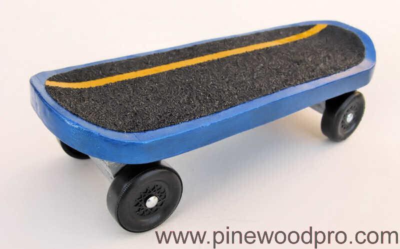 Pinewood Derby Skateboard Car