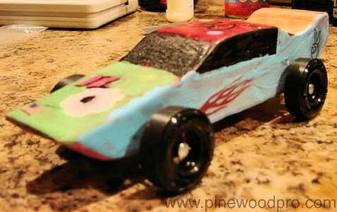 Girls Pinewood Derby Car
