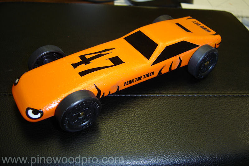 Pinewood Derby Fear the Tiger Car