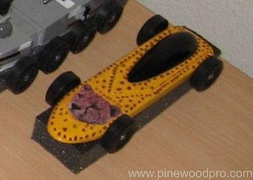 Pinewood Derby Cheetah Car Design