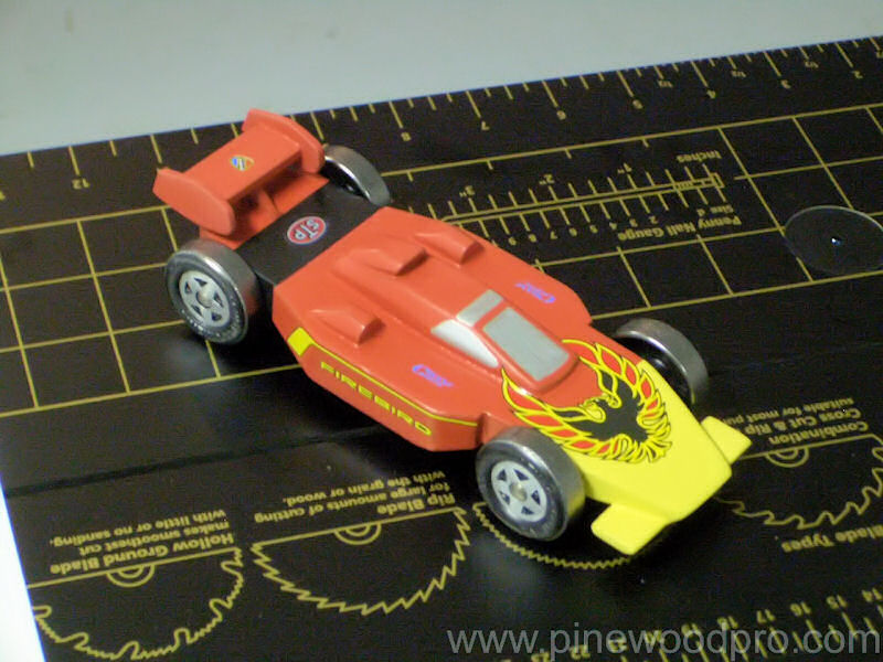 Pinewood Derby Firebird Car