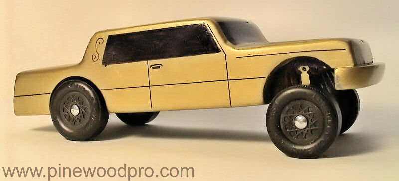 Pinewood Derby Gold Sedan