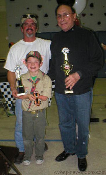Pinewood Derby Scout Winner