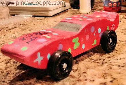 Pinewood Derby Girls Pink Car
