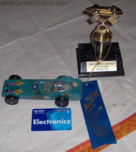 Pinewood Derby Awards Winner