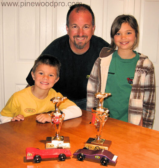 Pinewood Derby Family Victory