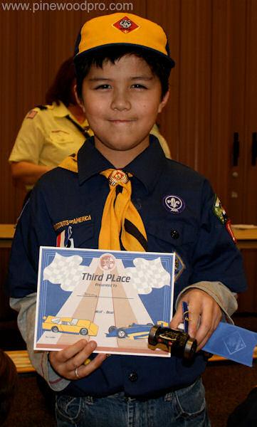 Pinewood Derby Certificate Winner