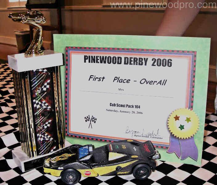 Pinewood Derby Car Design Won Trophy