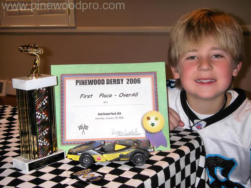 Pinewood Derby Award Winner