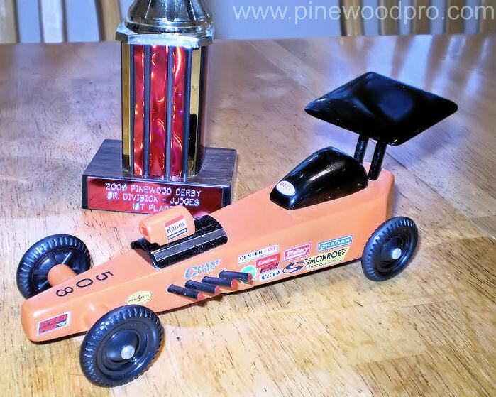 Pinewood Derby Race car Design Winner