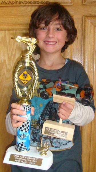 Pinewood Derby Race Winner