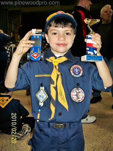 Pinewood Derby Boy Scout Winner