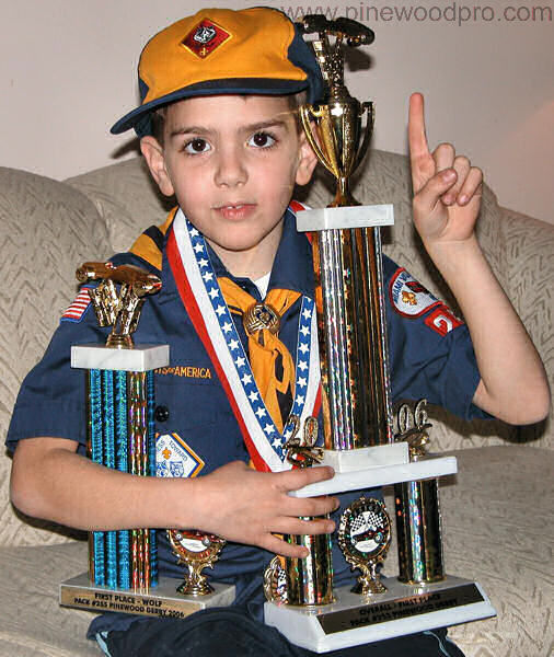 Pinewood Derby First Place Winner