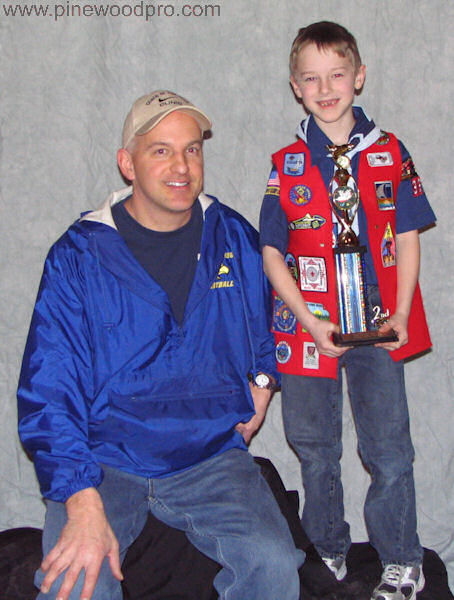 Pinewood Derby Father and Son
