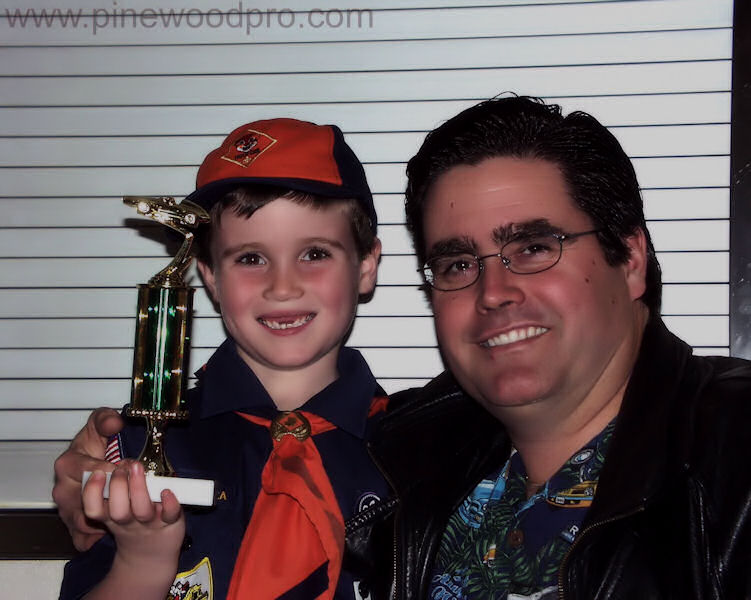 Pinewood Derby Father and Son Winning Team