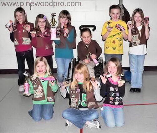 Pinewood Derby Girl Scouts winners