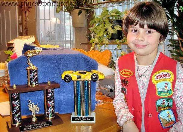 Pinewood Derby Awana Girl Winner