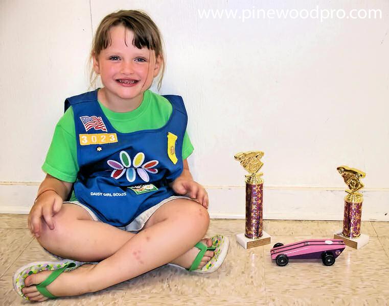 Pinewood Derby Girl Scout Winner