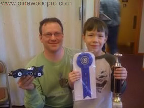 Pinewood Derby Batmobile Car