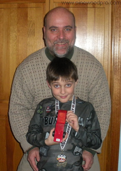Pinewood Derby Father-Son Victory