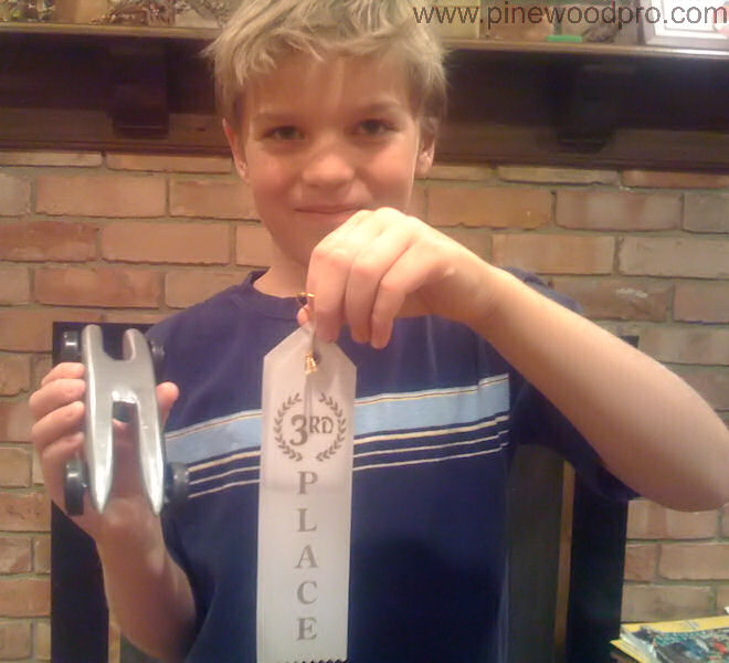 Pinewood Derby Third Place Ribbon