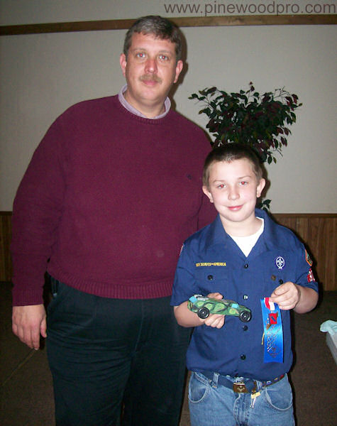 Pinewood Derby Father and Son Winners