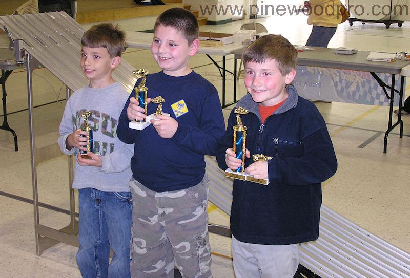 Pinewood Derby Winners Podium