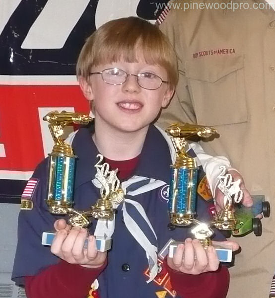 Pinewood Derby Trophies Winner