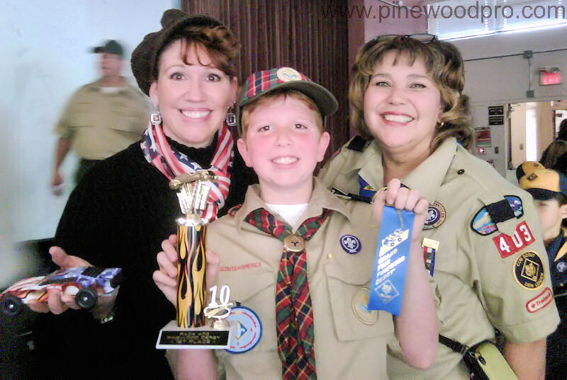 Pinewood Derby Mother and Son Winners