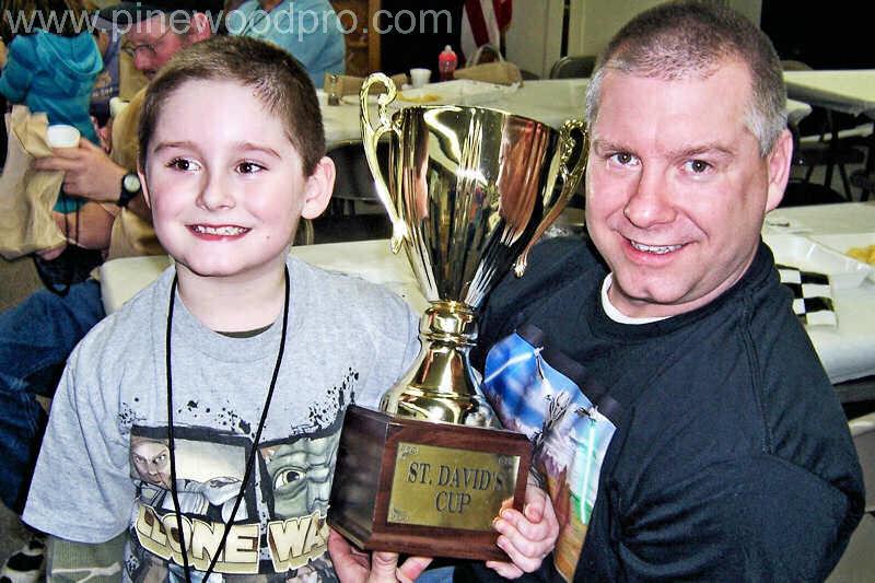 Pinewood Derby Trophy Cup Winners